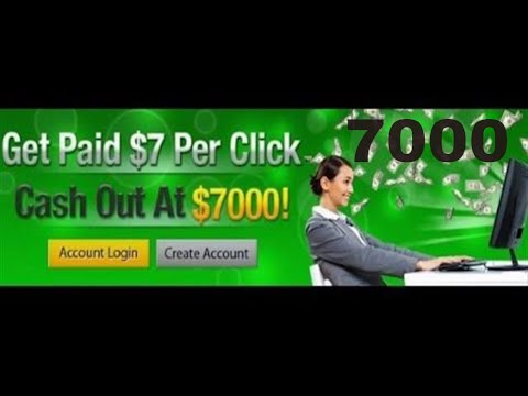 7 Dollar Click PTC Site And Cash Out 7000 Dollars