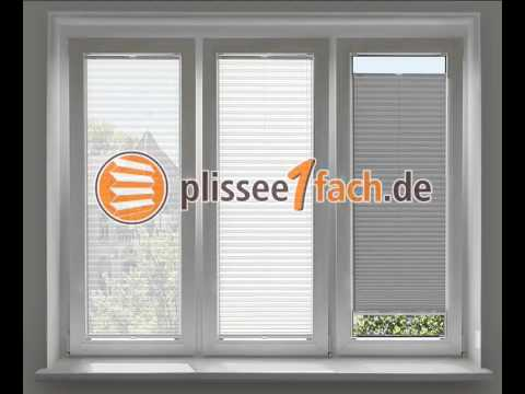 plissee am fenster youtube. Black Bedroom Furniture Sets. Home Design Ideas
