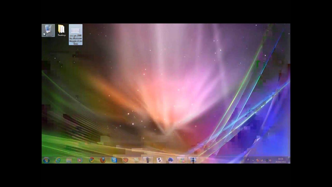Come fare l 39 effetto 3d su windows 7 for Sfondo animato pesci