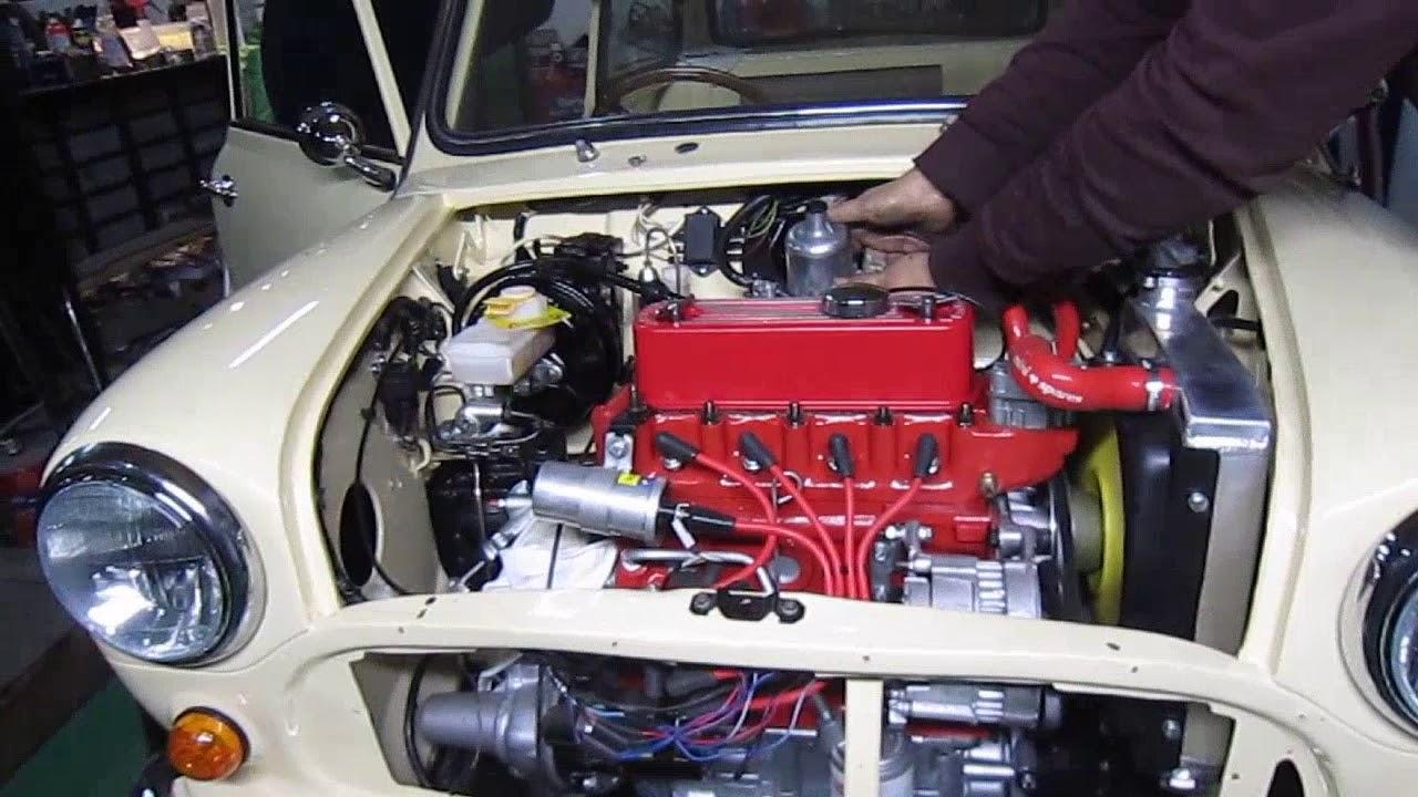 Classic Mini Cooper Engine Rebuild Start Up Youtube