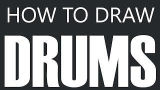 How To Draw Drums - Drum Set Drawing