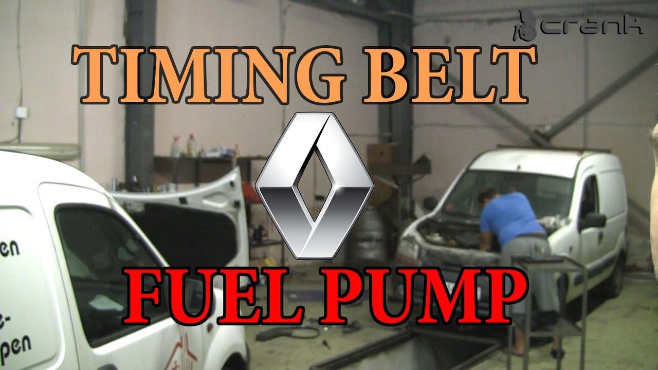 medium resolution of renault kangoo timing belt fuel pump change