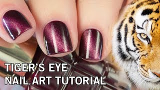 Easy DIY Tiger's Eye Nail Art Tutorial | NO Gel & NO Magnets
