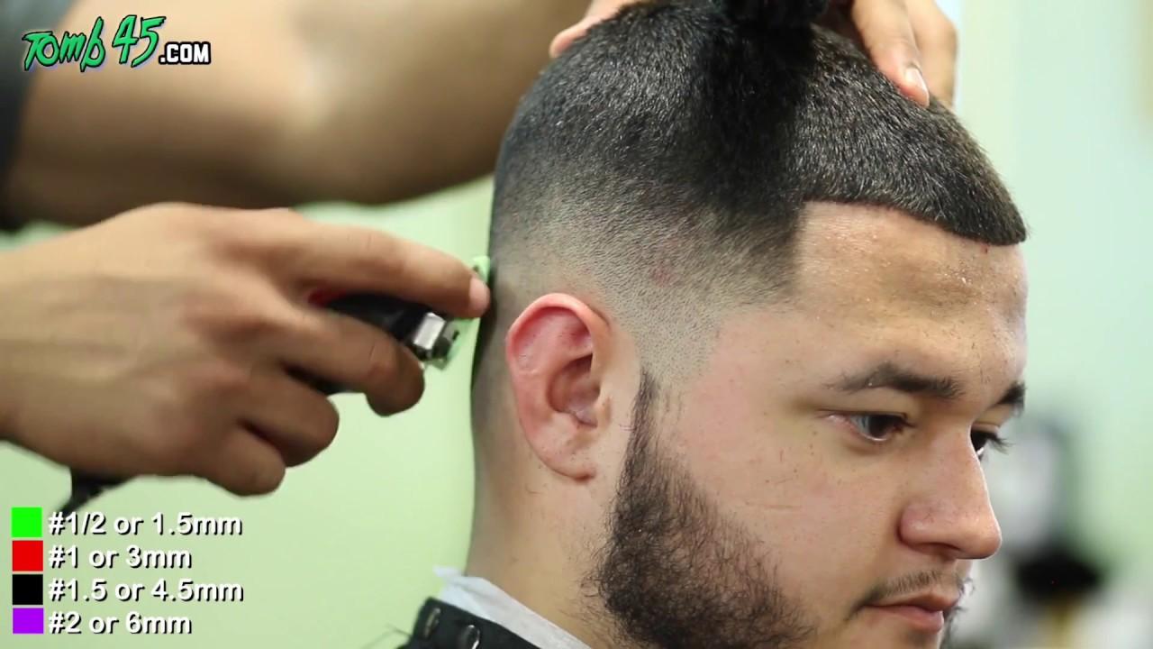 Bald Fade Haircut With Beard Lineup Youtube