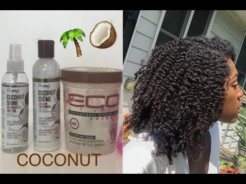 COCONUT THEMED BRAID-OUT | ECOSTYLER & COCONUT CREME'