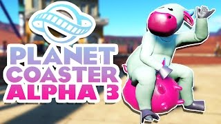 Planet Coaster Alpha 3 Gameplay - New Rides, Coasters, and Buildings! - Let's Play