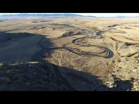Oregon Trail, Independence Rock and Devil's Gate from a DJI Phantom 3 Professional