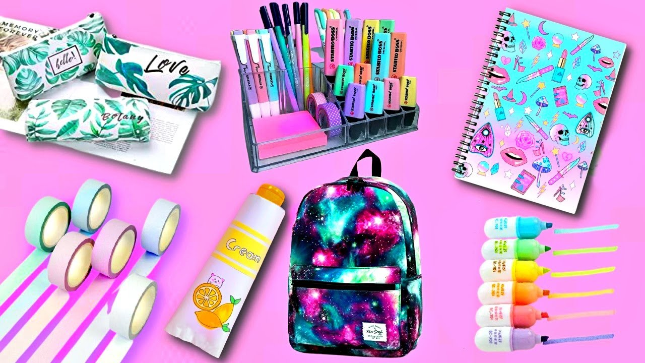 22 DIY EASY SCHOOL SUPPLIES IDEAS YOU SHOULD DEFINITELY TRY - BACK TO SCHOOL HACKS AND CRAFTS