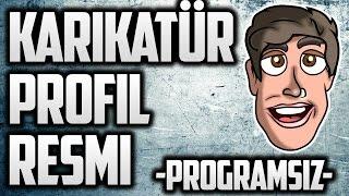 CARTOON/VECTOR PROFİL RESMİ YAPMA PROGRAMSIZ