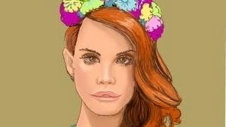 How to draw Lana Del Rey