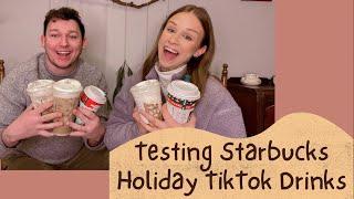 Testing Starbucks Holiday TikTok Drinks with My Boyfriend