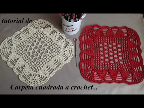 carpeta cuadrada a crochet  YouTube