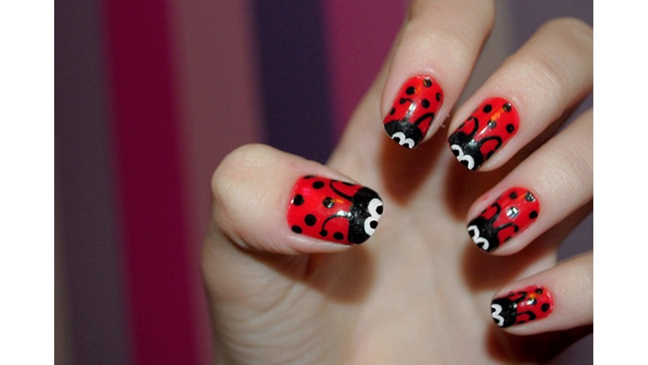 Ultimo en u as decoradas con esmalte rojo youtube - Unas decoradas con esmalte ...