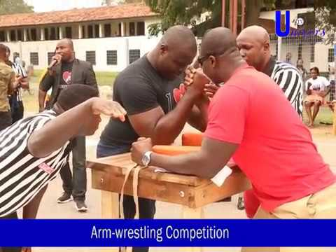 Univers TV: Firecely contested Arm-wrestling at University of Ghana #2017UGINTERHALL