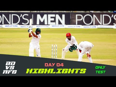 Highlights | Bangladesh vs Afghanistan | Day 04 | Test Series | Afghanistan tour of Bangladesh 2019