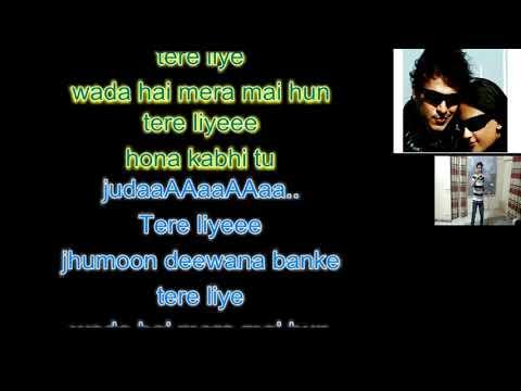 Tere Liye|Prince Atif Aslam Full Karaoke With Lyrics|with Shreya Ghoshal Voice