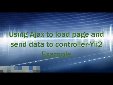 Load Page Using AJAX-MVC In Yii2 Framework
