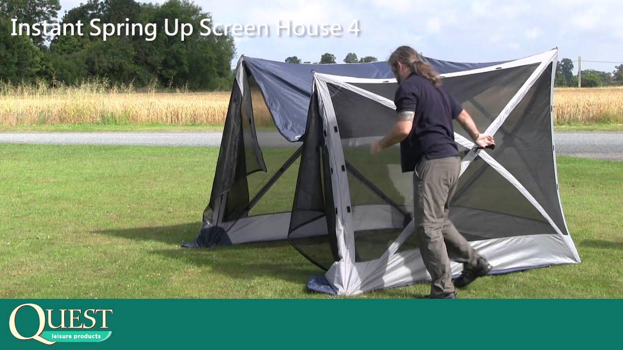 Quest Leisure Instant Screen House 4 & Quest Leisure Instant Screen House 4 - YouTube