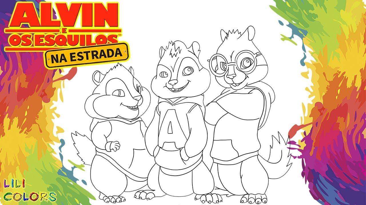 Pintar Alvin E Os Esquilos Videos Infantis Desenho Infantil De