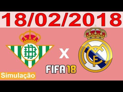 BETIS X REAL MADRID - 18/02/2018 - Campeonato Espanhol - La Liga - Simulação FIFA 18