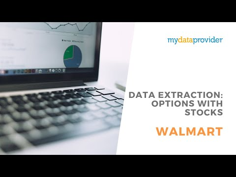 Walmart data extraction: options with stocks