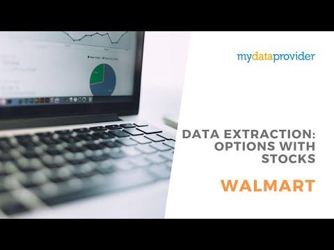 Walmart data extraction: options with stocks - YouTube