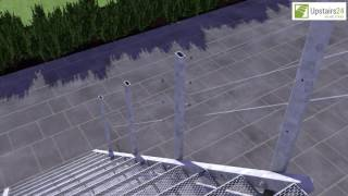 Vidéo: Escalier extérieur Hollywood avec palier et 1 rampe