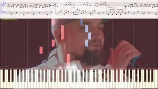 Выпускной 2017 - Баста  (Ноты и Видеоурок для фортепиано) (piano cover)