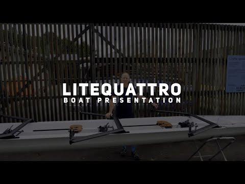 LiteQuattro Open Water : un bateau d'aviron innovant et versatile, entre yolette et quatre barré.