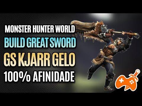 Monster Hunter World | Build Espadão Kjarr Gelo - Alto DANO - 100% Afinidade thumbnail