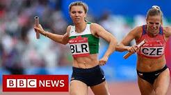 Belarus sprinter given Polish humanitarian visa - BBC News