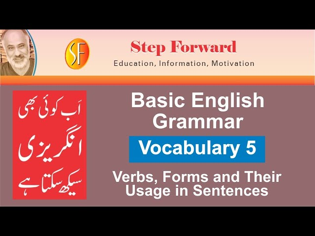 Basic English Grammar |Vocabulary 5|Most Important Verbs with Urdu Meanings & Sentences| StepForward