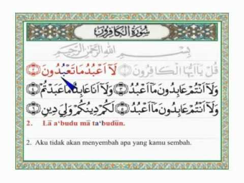 AL KAFIRUN +arab latin dan terjemahannya