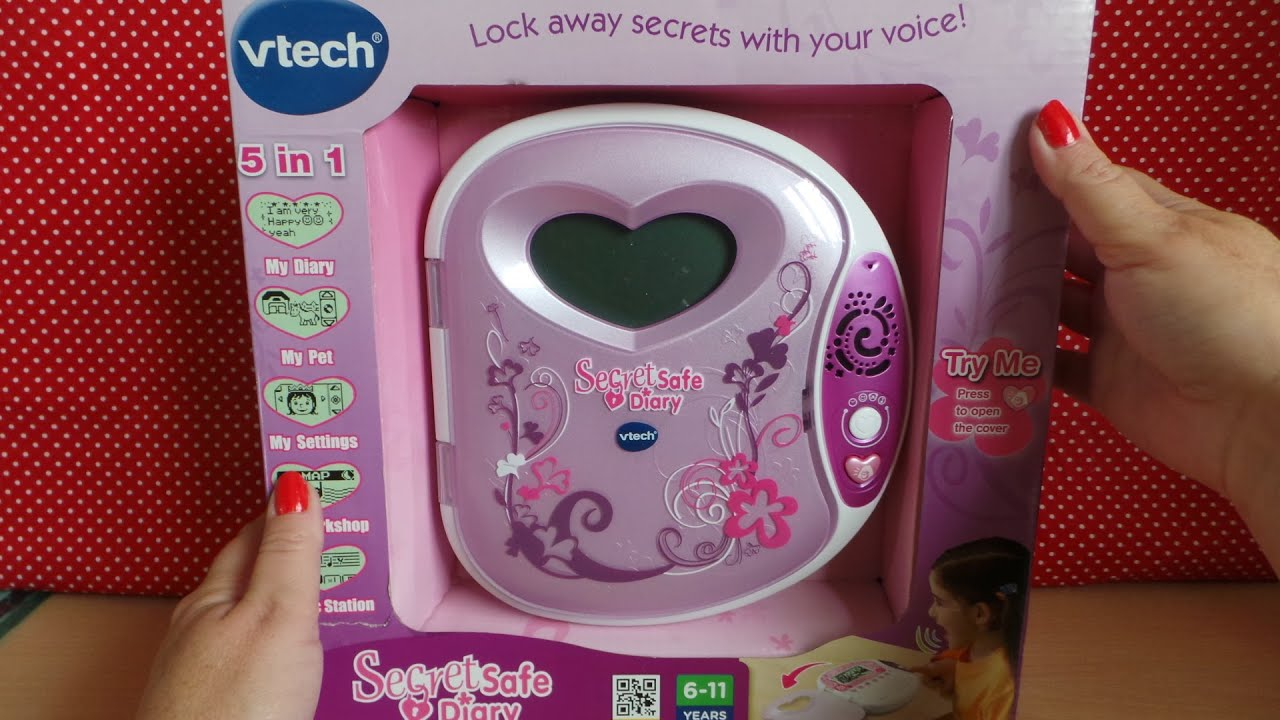 Vtech Voice Control Lcd Secret Safe 5 In 1 Diary Youtube