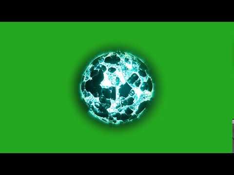 Energy Ball / Blue Fire ball | Green Screen Chroma Key