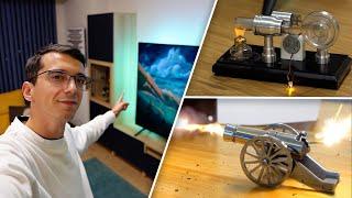 Salon Yenileme, Minyatür Top, Stirling Motoru (Haftalık Vlog)