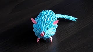 3d Origami Rat (mouse) Assembly Diagram (tutorial, Instructions)