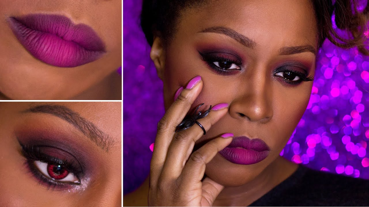 Sexy evil wearable witch halloween makeup tutorial ombre lips sexy evil wearable witch halloween makeup tutorial ombre lips for dark skin graceonyourdash youtube baditri Images