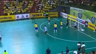 futsal brasil 11 x 1 argentina grand prix futsal 2013