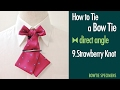 How to Tie a Bow Tie/9.Strawberry Knot direct angle/BowTie Specimens