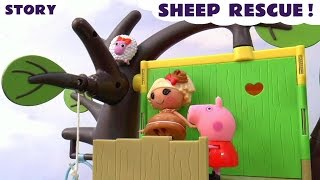 Lalaloopsy And Peppa Pig Sheep Rescue Episode Thomas Train Disney Goofy Helicopter