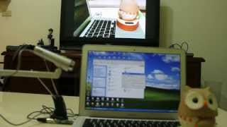 USB WEBCAM to TV DEMO from USB dongle DVB-T COFDM Modulator generator transmission