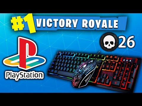 HELPING AN ENTIRE FORTNITE SQUAD WIN ON PS4 USING MY KEYBOARD & MOUSE!!