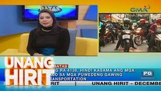 Unang Hirit: Bakit nga ba bawal ang mga 'Angkas' motorcyle?   Kapuso Sa Batas