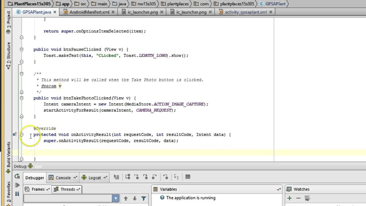Use camera in Android Studio w/ Implicit Intent, ImageView