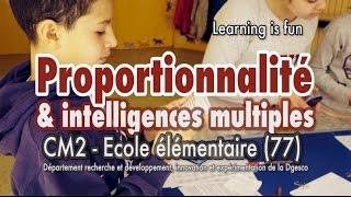 Proportionnalité et intelligences multiples en CM2 #eduinov
