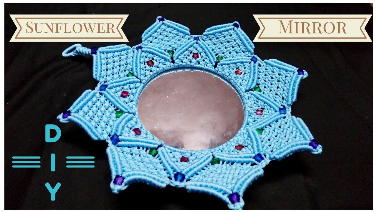 How to make Macrame mirror stand | Macrame Art | HD video - YouTube