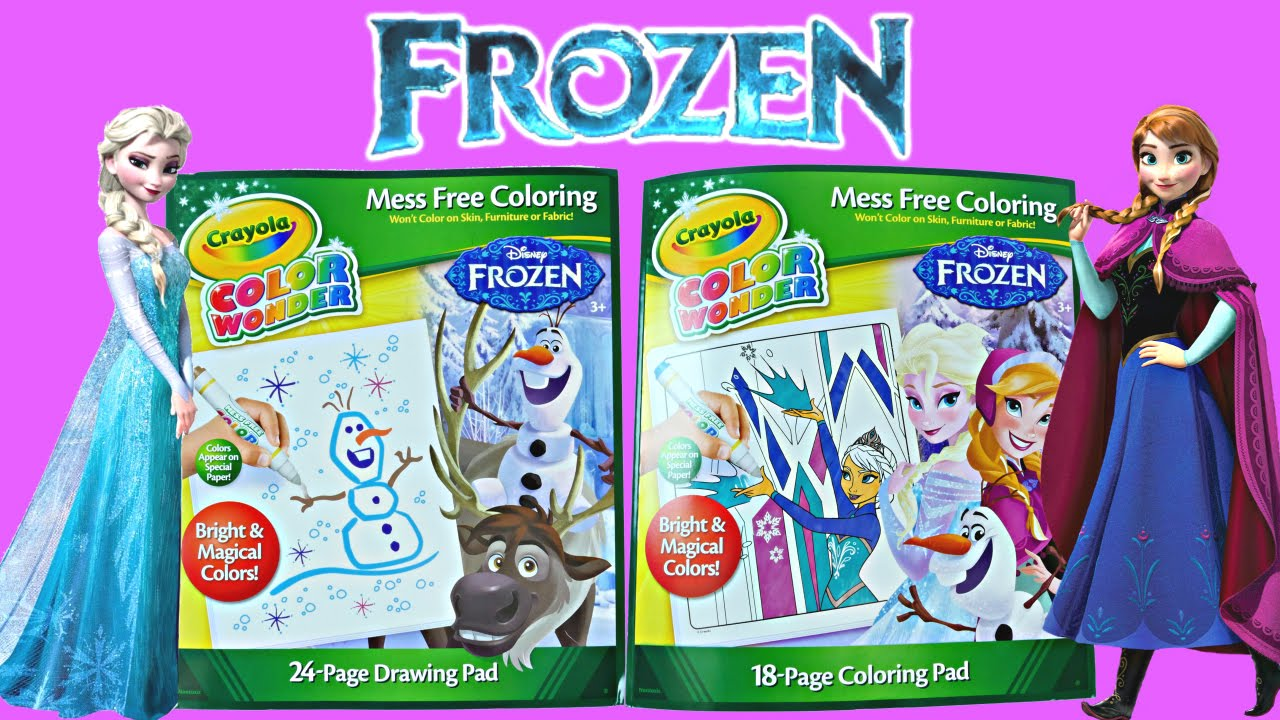 disney frozen crayola color wonder magical paint queen elsa princess anna coloring pad youtube - Magic Marker Coloring Book