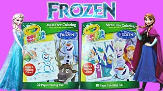 Disney Frozen Crayola Color Wonder Magical Paint Queen Elsa - Princess Anna Coloring Pad