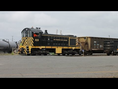 Alco Diesel and Baldwin Steam: SF Belt S2 #23 and SP 2472
